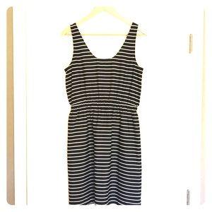 Loft black and white dress Size S